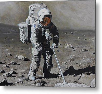 The Geologist- Harrison Schmitt. Apollo 17 Metal Print by Simon Kregar