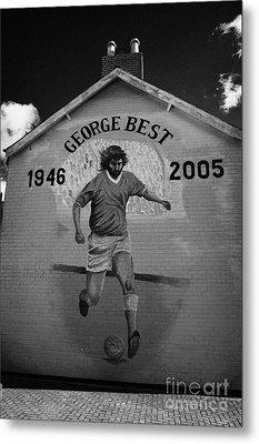 The George Best Memorial Mural On The Lower Cregagh Road In Belfast Northern Ireland Metal Print by Joe Fox