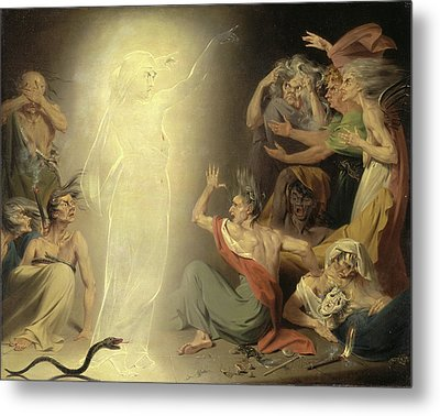 The Ghost Of Clytemnestra Awakening The Furies Signed Metal Print