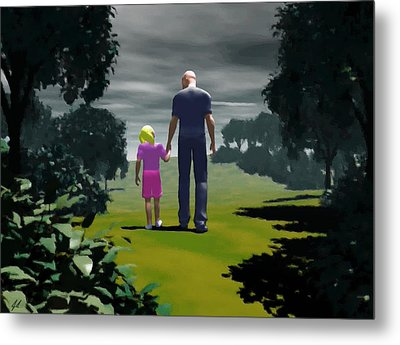 The Gift Of Being 'daddy' Metal Print