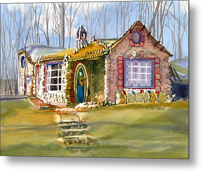 The Gingerbread House Metal Print by Kris Parins