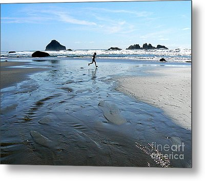the Girl and the Ocean Metal Print by Dona  Dugay