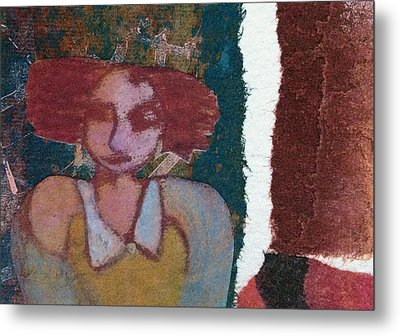 Metal Print featuring the mixed media The Girl Waits by Catherine Redmayne