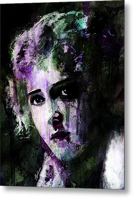 The Girl With The Curls Metal Print by Gary Bodnar
