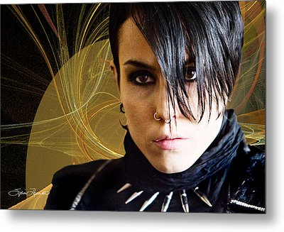 The Girl With The Dragon Tattoo Metal Print by Sylvia Thornton