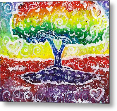 Metal Print featuring the painting The Giving Tree by Shana Rowe Jackson