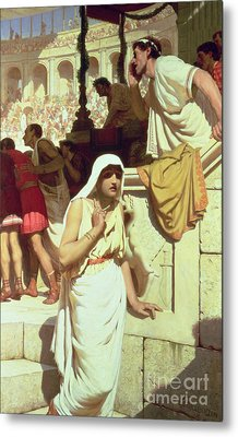 The Gladiators Wife Metal Print by Edmund Blair Leighton