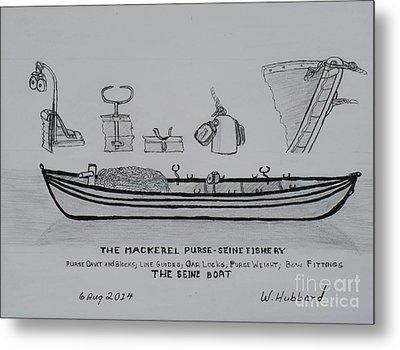 The Gloucester Seine Boat Metal Print