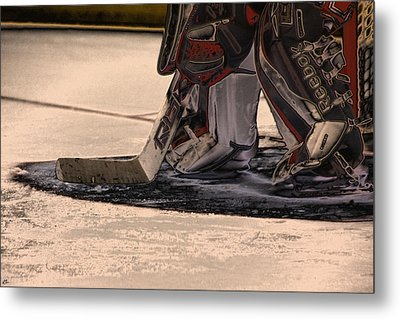 The Goalies Crease Metal Print