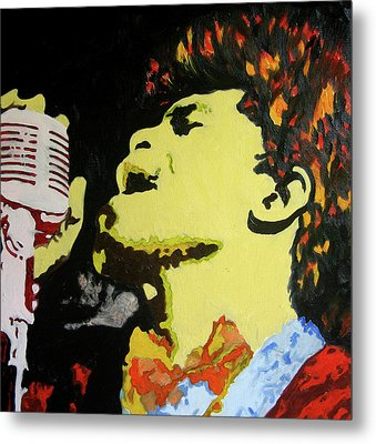 The God Father Of Soul James Brown Metal Print by Ronald Young