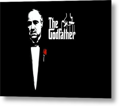 The Godfather Metal Print by Cool Canvas