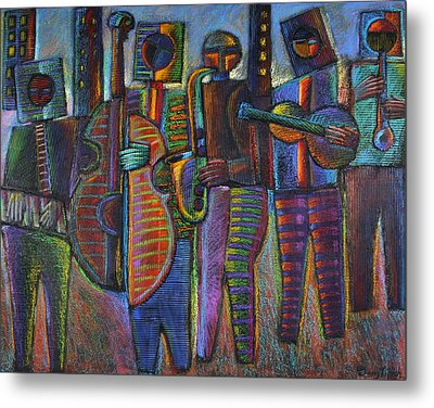 The Gods Of Music Come To New York Metal Print by Gerry High