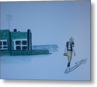 Metal Print featuring the painting The Gold Has Left Green Bay by Dan Wagner