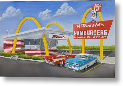 The Golden Age Of The Golden Arches Metal Print by Jerry McElroy