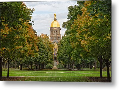 The Golden Dome Of Notre Dame Metal Print