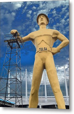 The Golden Driller - Tulsa Oklahoma Metal Print