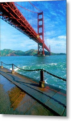 The Golden Gate Bridge And The Entrance Metal Print