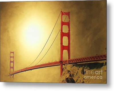The Golden Gate Metal Print by Wingsdomain Art and Photography