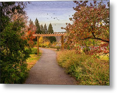 The Golden Path Metal Print by Mary Timman