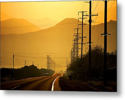The Golden Road Metal Print by Matt Harang