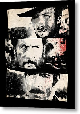 The Good The Bad And The Ugly Metal Print by Filippo B