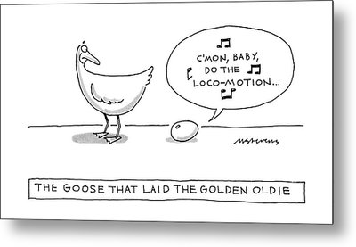 The Goose That Laid The Golden Oldie Metal Print
