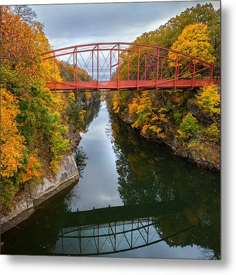 The Gorge Square Metal Print by Bill Wakeley