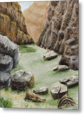 Metal Print featuring the painting The Gorge by Susan Culver