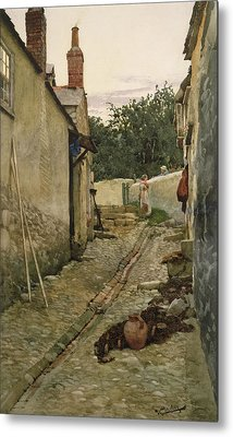 The Gossips Metal Print by Walter Langley