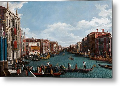 The Grand Canal At Venice Metal Print