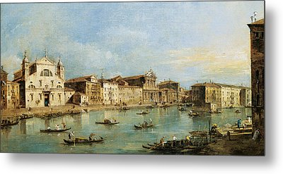The Grand Canal Metal Print by Francesco Guardi