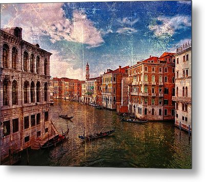 The Grand Canal Venice Italy Metal Print by Suzanne Powers