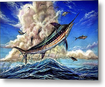 The Grand Challenge  Marlin Metal Print by Terry Fox