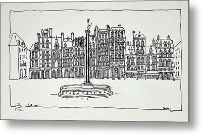 The Grand Place, Lille, France Metal Print