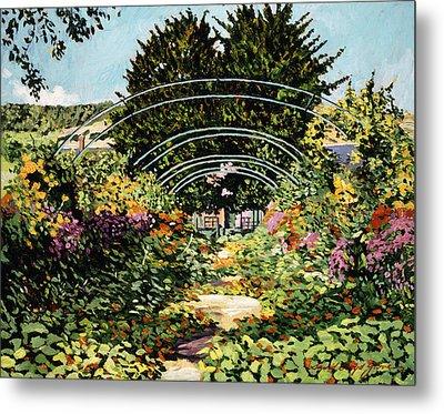 The Grande Alle Monet's Garden Metal Print by David Lloyd Glover