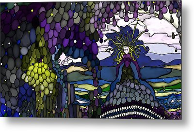 The Grape Arbor Medusa Metal Print