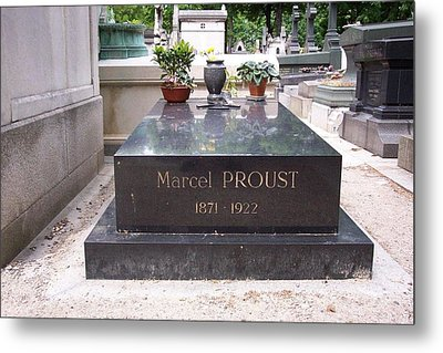 The Grave Of Marcel Proust In Paris France Metal Print