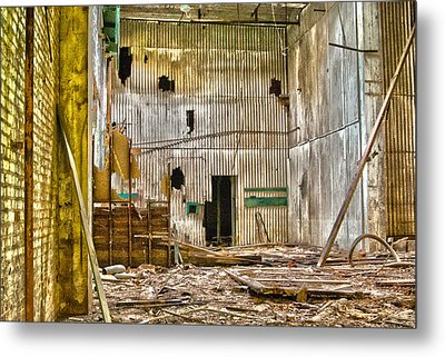 Metal Print featuring the photograph The Gray Room by Kimberleigh Ladd
