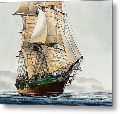 The Great Age Of Sail Metal Print by James Williamson