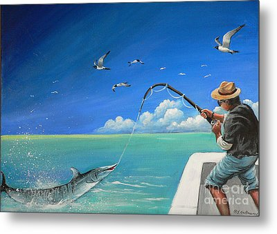 Metal Print featuring the painting The Great Catch 1 by S G