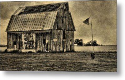The Great Depression Barn Metal Print by Dan Sproul