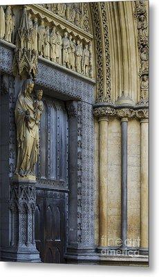 The Great Door Westminster Abbey London Metal Print by Tim Gainey