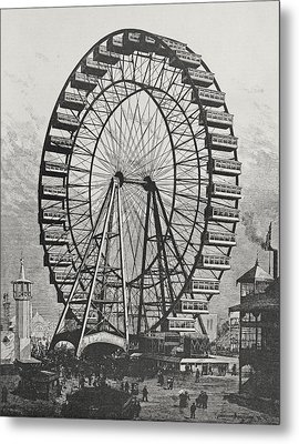 The Great Ferris Wheel In The World Columbian Exposition, 1st July 1893 Metal Print by American School