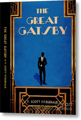 The Great Gatsby Book Cover Movie Poster Art 4 Metal Print