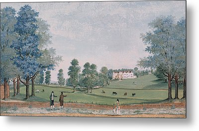 The Great House And Park At Chawton Metal Print by Adam Callander