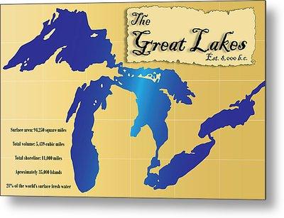 The Great Lakes Metal Print