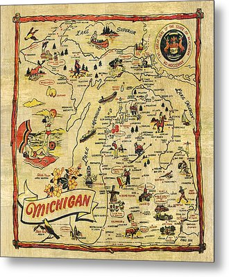 The Great Lakes State Metal Print