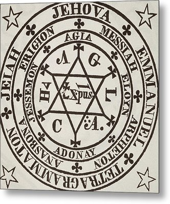 The Great Magic Circle Of Agrippa For The Evocation Of Demons Metal Print by Italian School