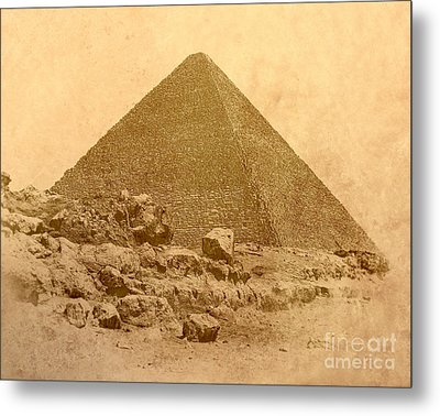 Metal Print featuring the photograph The Great Pyramid by Nigel Fletcher-Jones