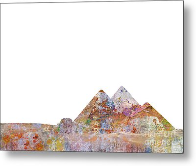 The Great Pyramids Colorsplash Metal Print